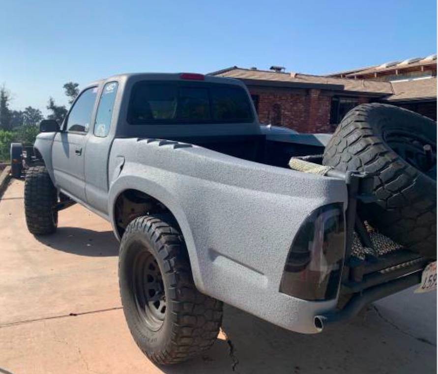 Toyota Tacoma 2WD with a Rhino liner