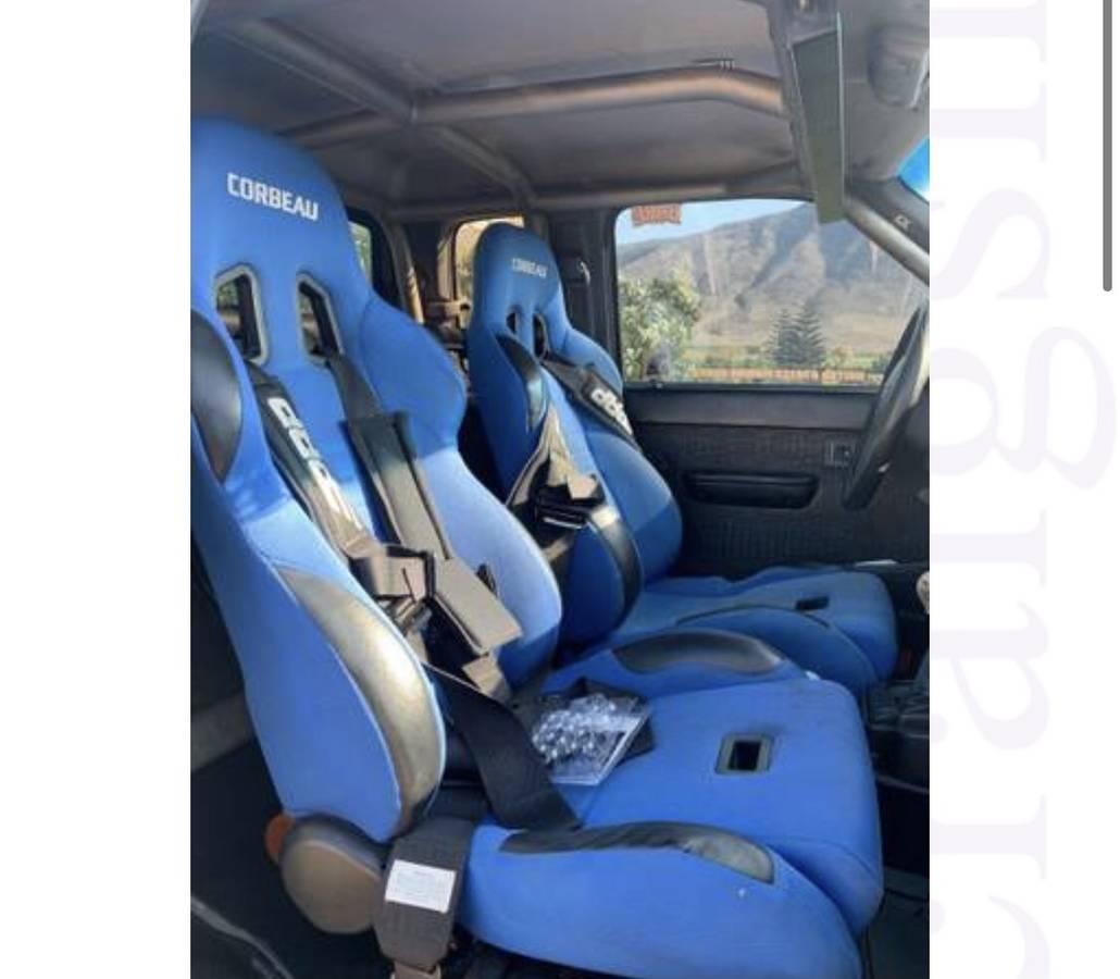 Crobeau racing seats in a truck