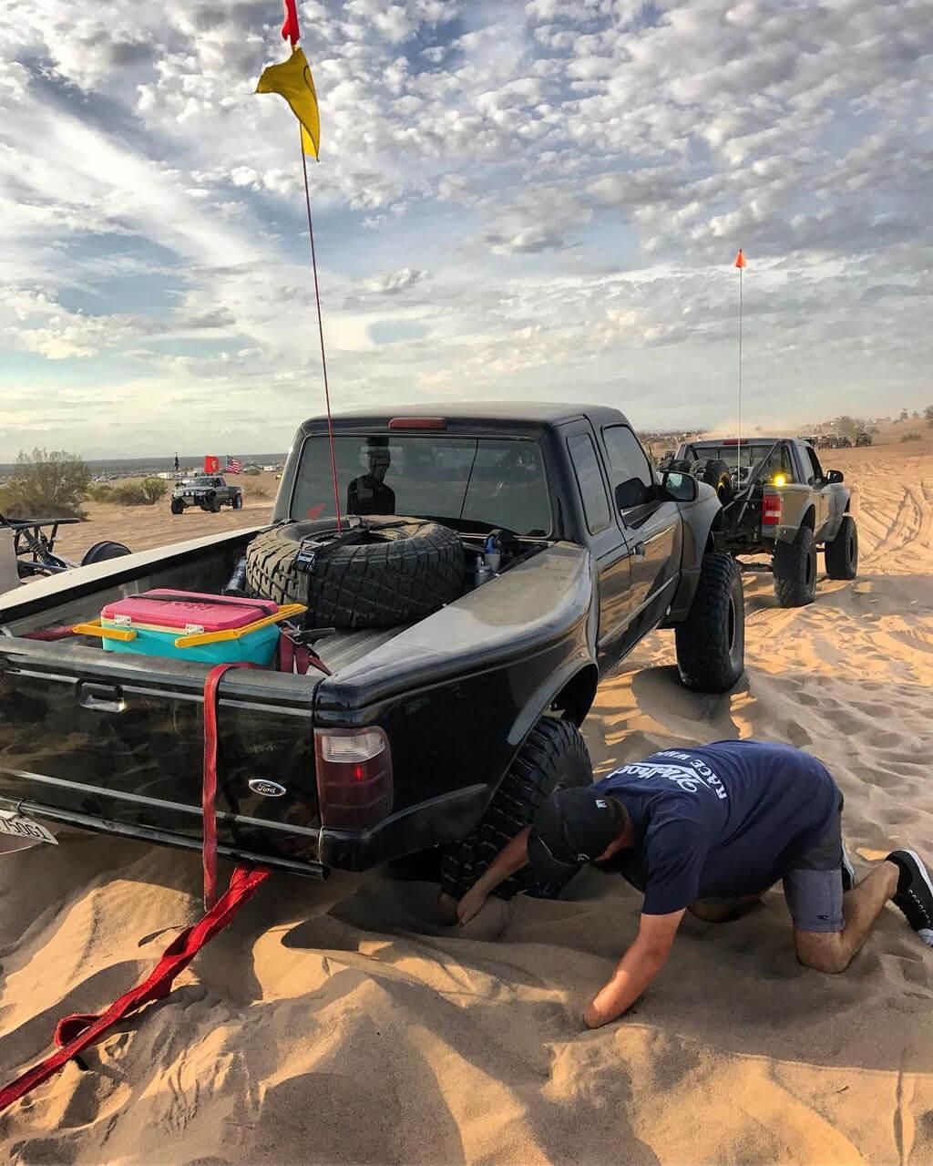2WD truck problems - Ford Ranger Pre runner 2wd pre runner stuck in sand