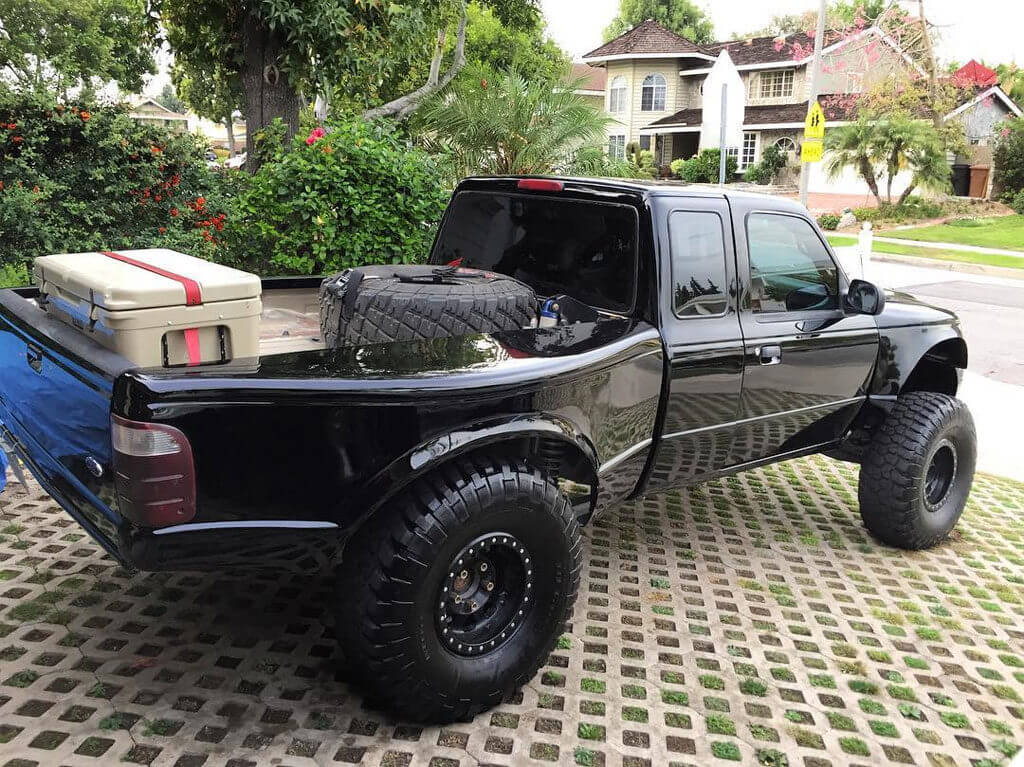 ford ranger prerunner spare tires carrier