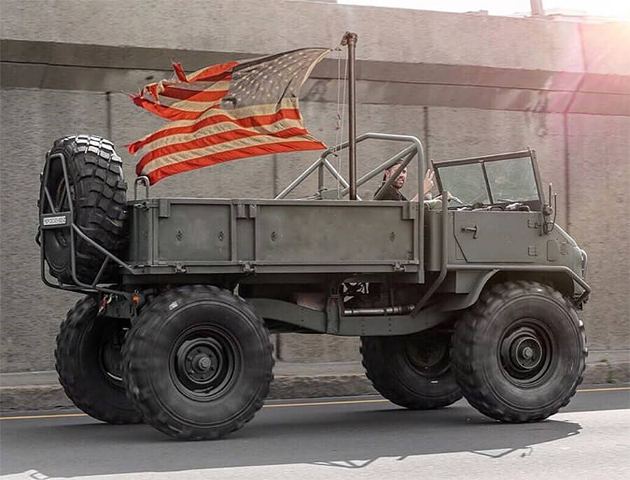 Unimog truck in America