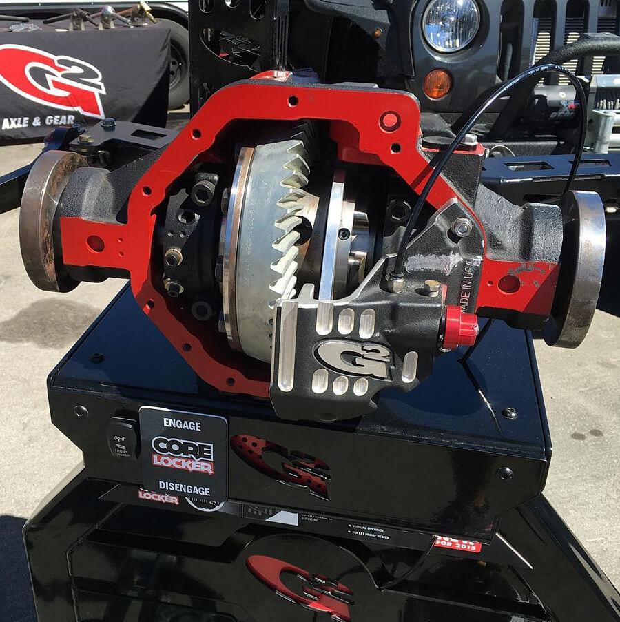 Rear axle gear differential