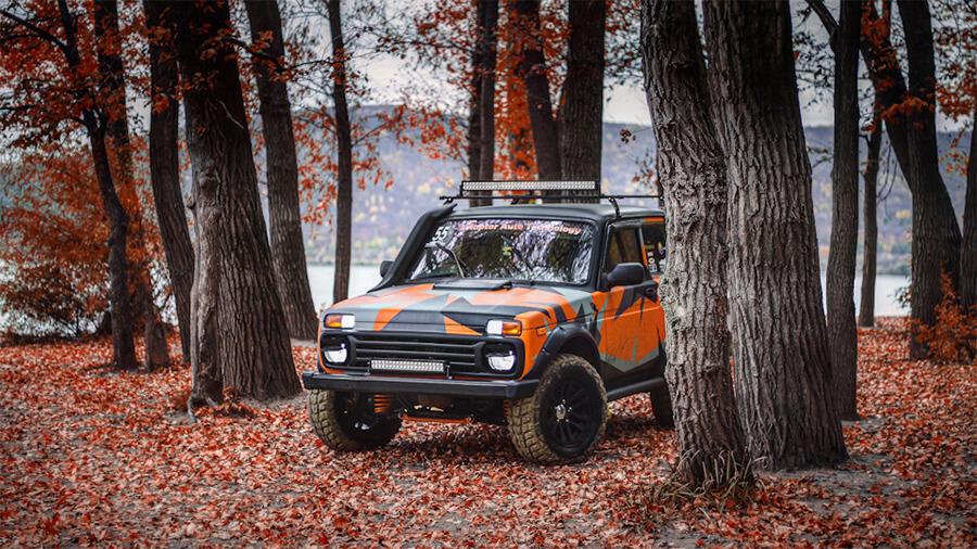 Lada niva off-road photography