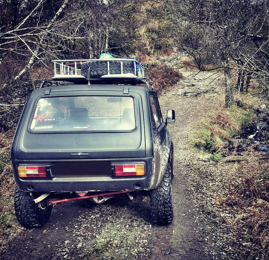 Lada niva offroad adventure