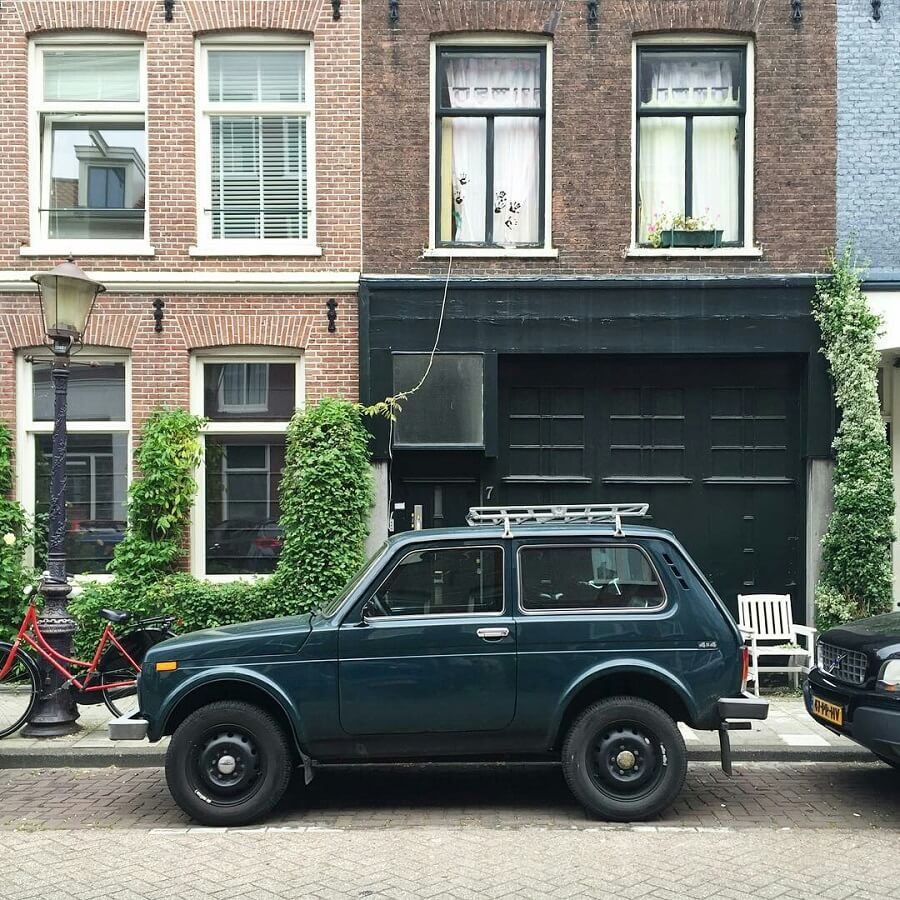 Lada niva in Rotterdam, Netherlands