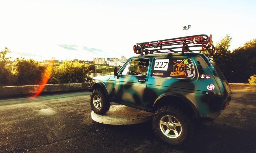 Lada Niva 4x4 with roof rack