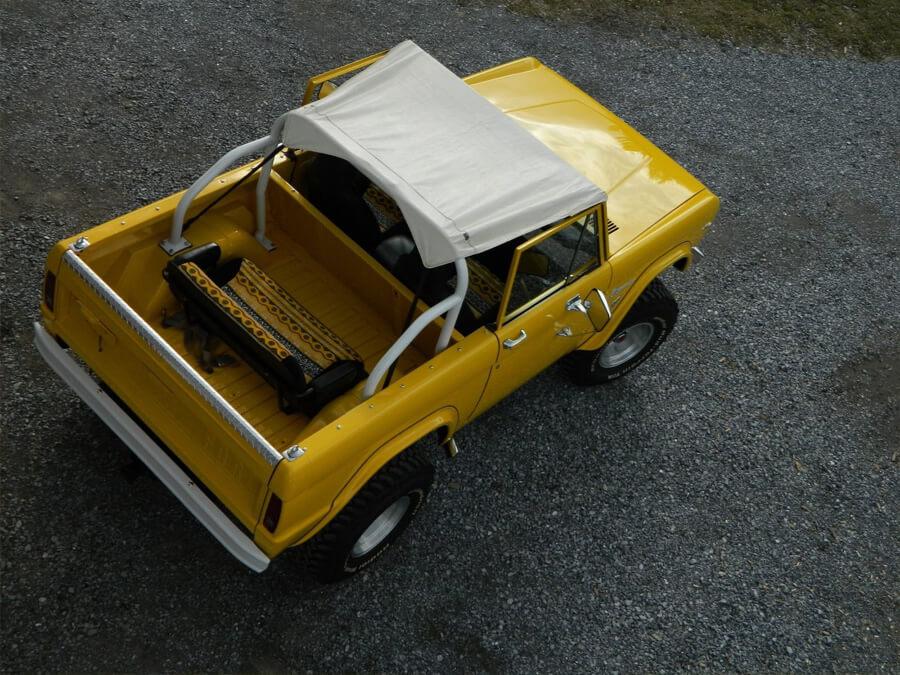 Vintage ford Bronco with bikini top cover