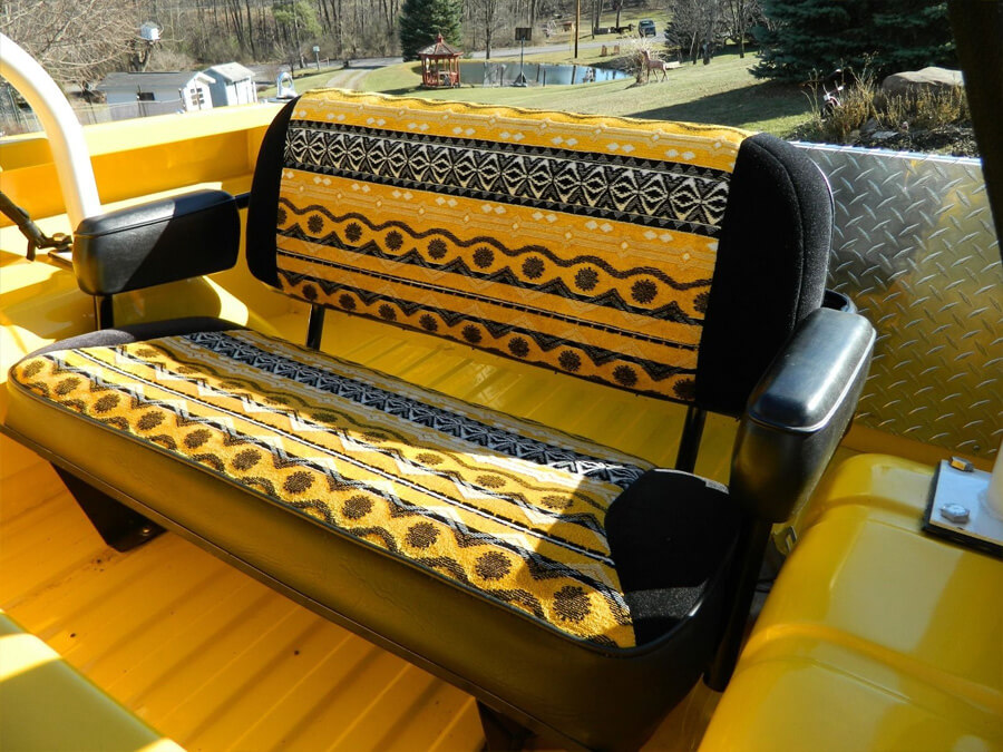 Old school truck seat upholstery