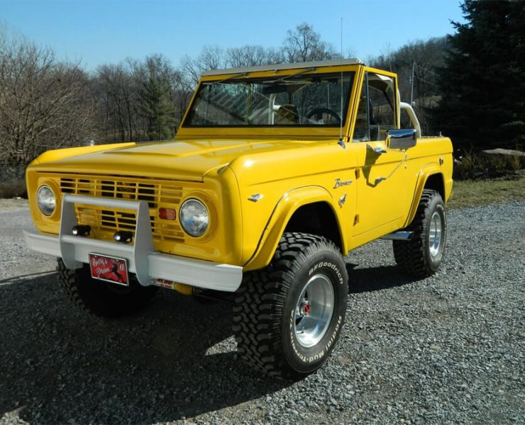 1968 Ford Bronco with Corvette yellow paint