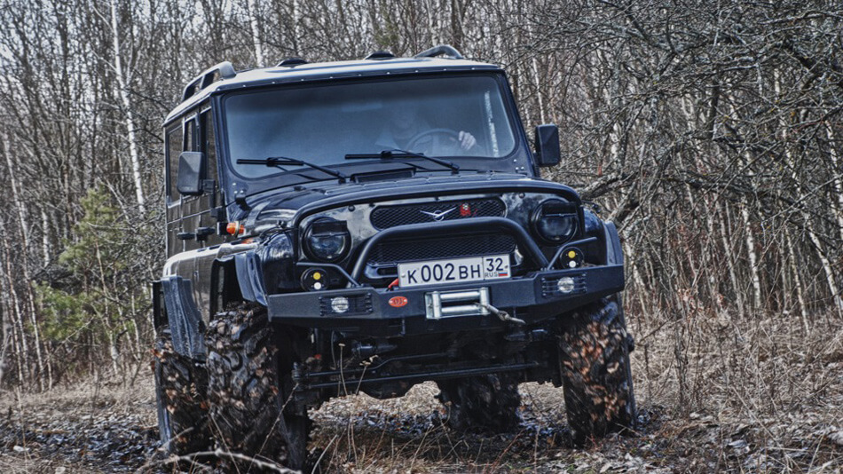Uaz off-road bumper with winch
