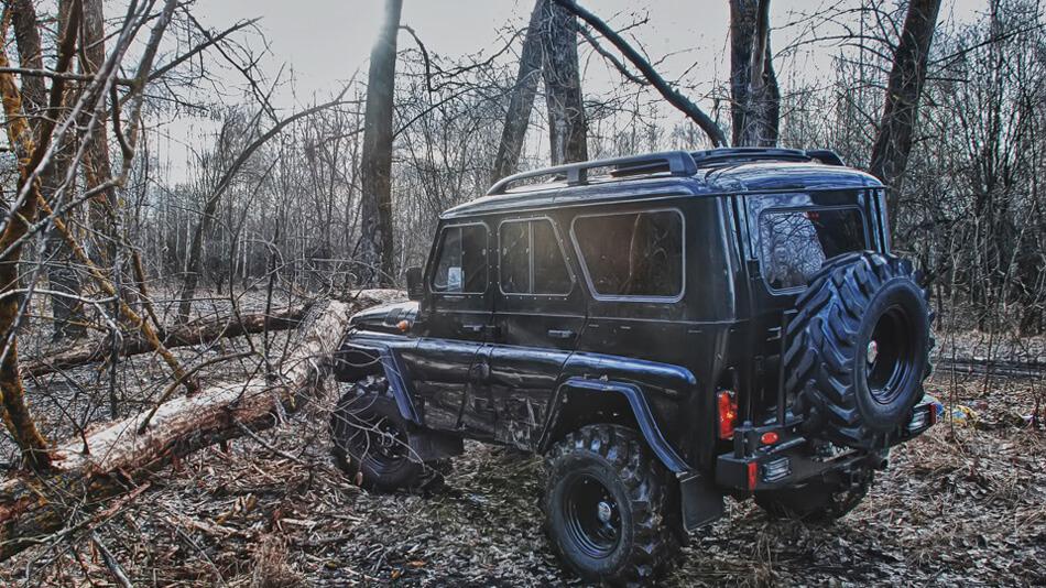 uaz 31514 off-road equipment black