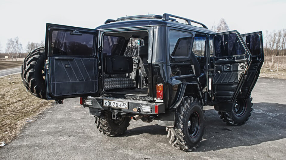 Uaz interior off-raod modifications