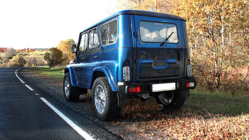 "Uaz 469 on 20"" off-road wheels"