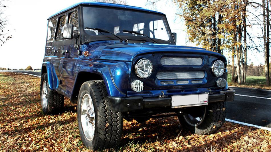 Blue uaz 31514 restoration