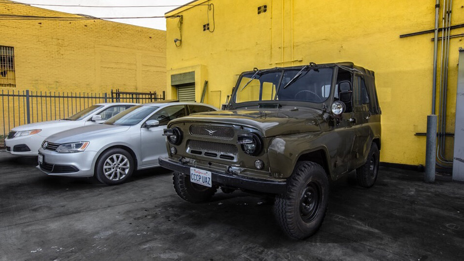Military Uaz 469 in California, USA