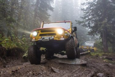 Uaz 469 4x4 off-road in the forrest