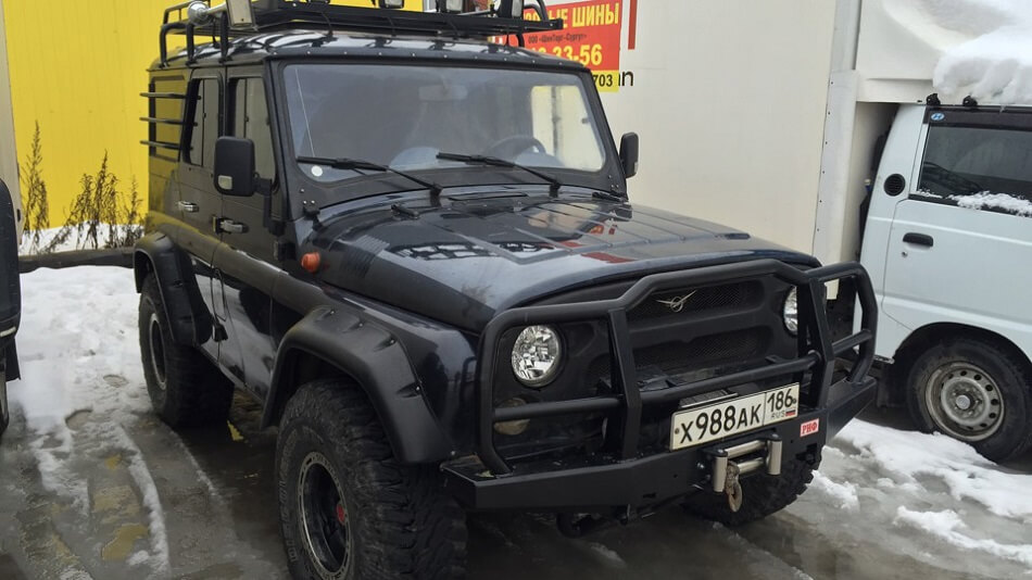 Uaz Hunter with off-road equipment