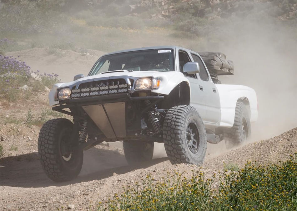 Toyota tacoma on mud terrain off-road tires M/T prerunner
