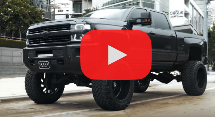 Badass chevy silverado 2500 HD on 24x14