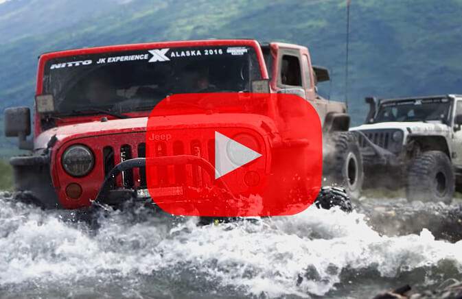 Jeep wrangler river crossing