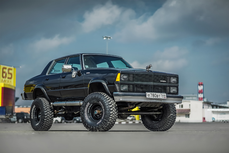 Chevy Malibu truck lifted on K5 frame