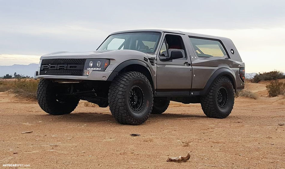 Ford Bronco With F150 Raptor Front End Conversion