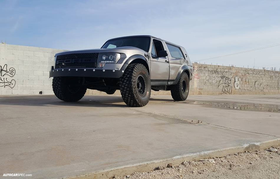 FOrd Bronco with large off-road Tires