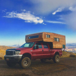 Ford F350 Powerstroke with a Camper