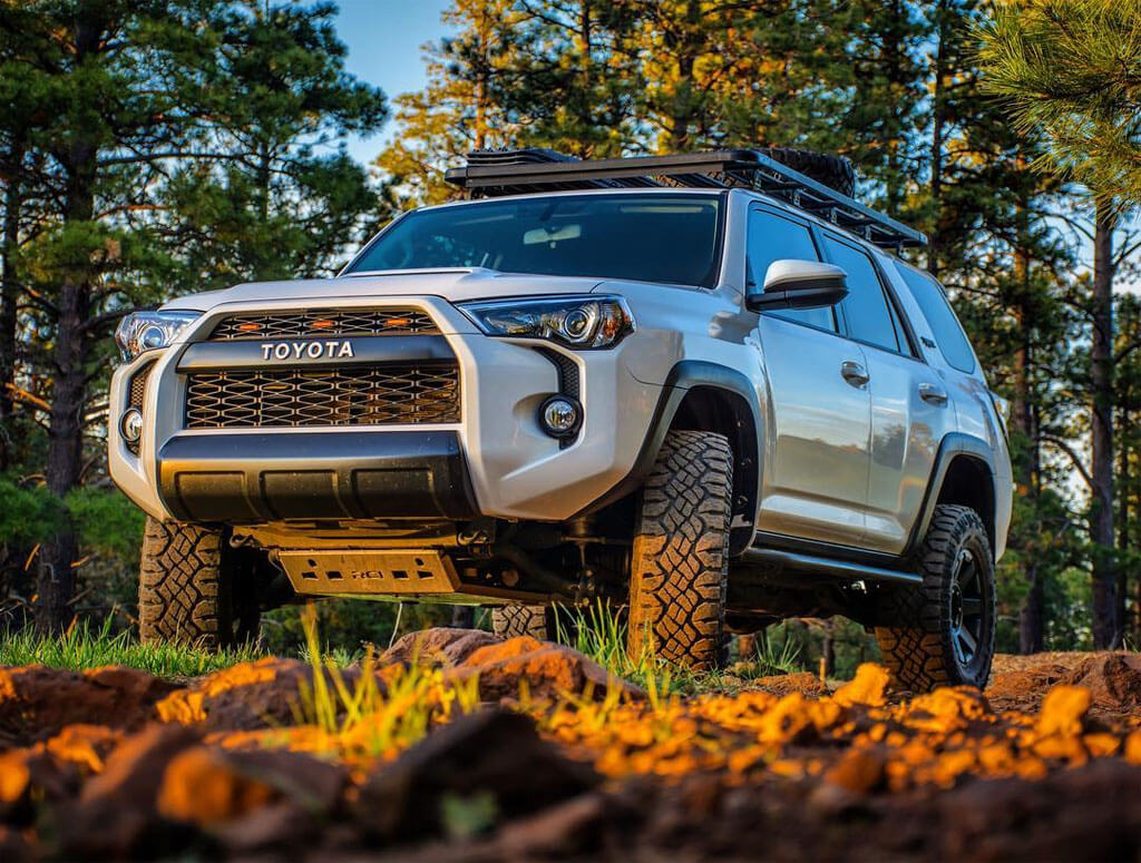 Lifted Toyota 4 Runner with RCI Aluminum Skid Plates and TRD Pro Grill