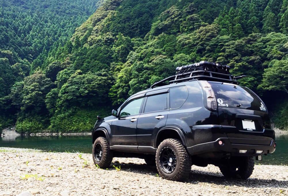 Nissan X-trail T31 black smoked taillights