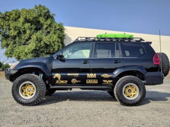 """Lifted Lexus GX460 with 5-7"""" lift and Expedition Roof rack"""
