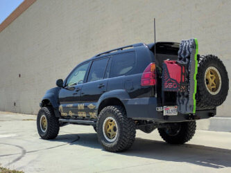Lexus GX460 Overland equipment and spare tire carrier