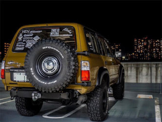 Lifted Toyota Land Cruiser 80 on 35s
