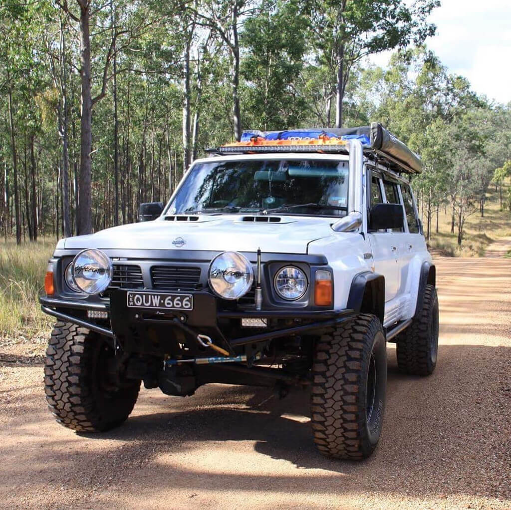 Lifted Nissan Patrol overland
