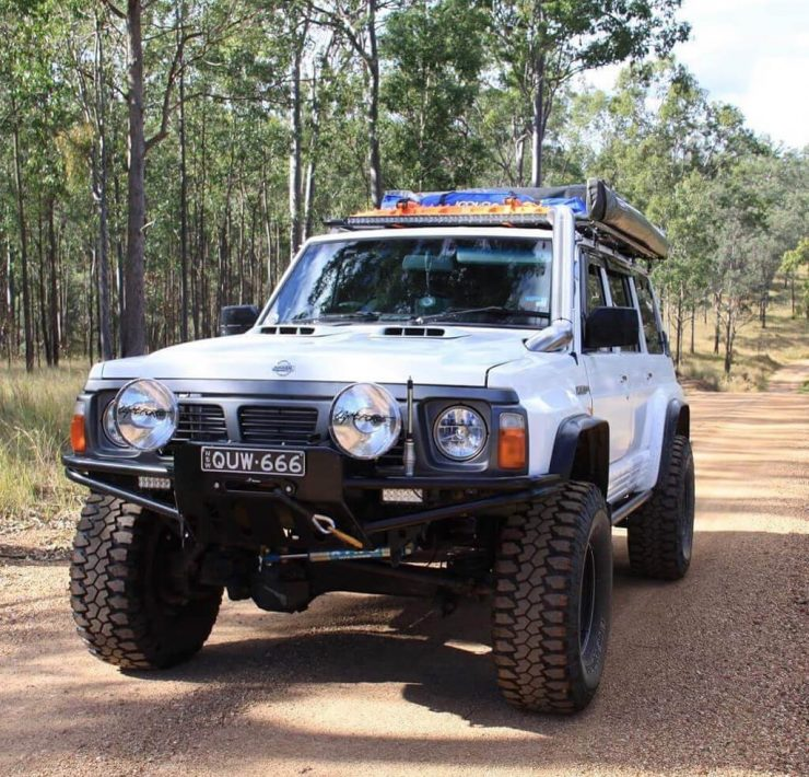 Lifted Nissan Patrol overland