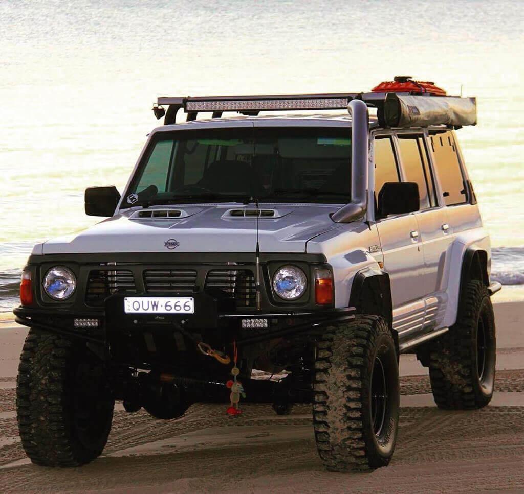 "Lifted Nissan Patrol on 37"" wheels"