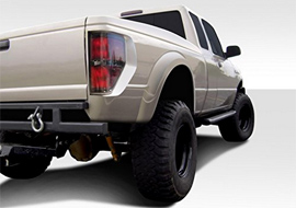 Duraflex Raptor style fenders for Ford Ranger