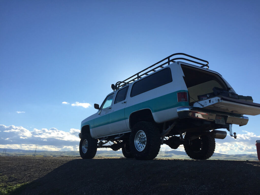 "35"" Nitto Trailgrapler off-road wheels on Chevy Suburban"