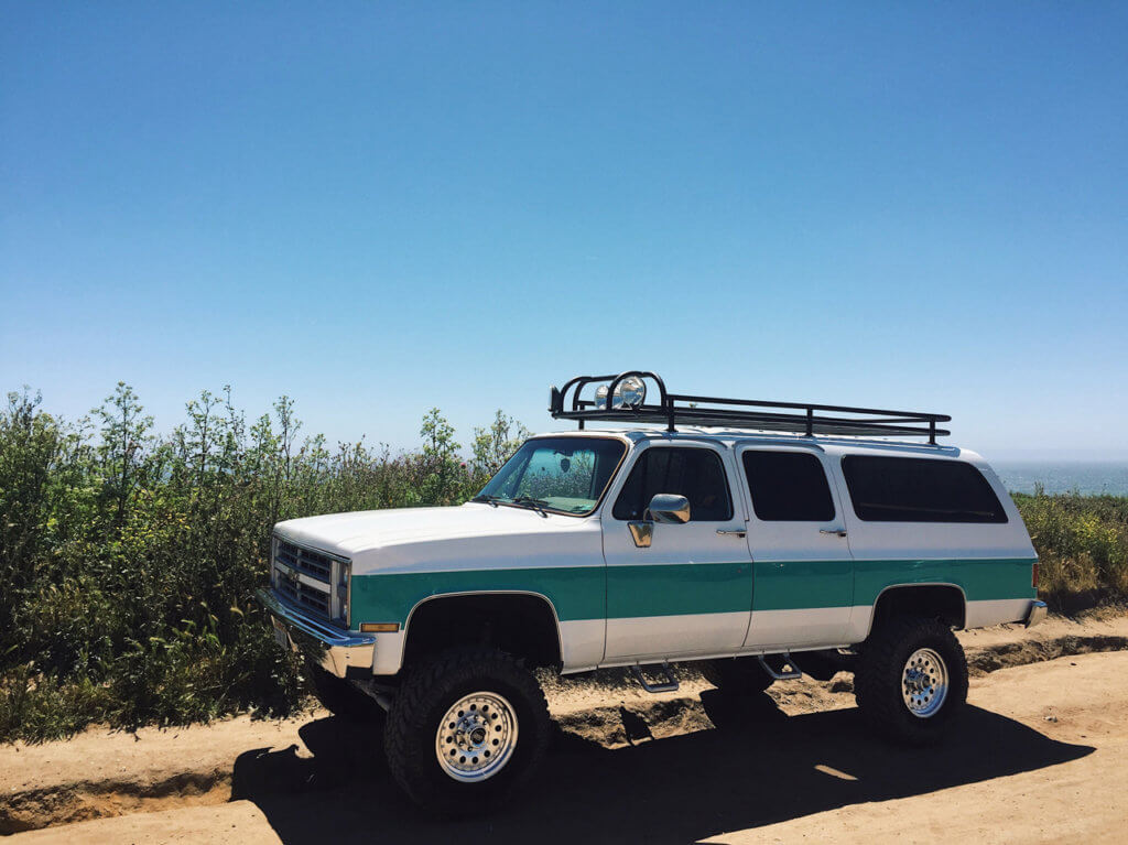 Chevy Suburban Square Body Roof Rack and Off-road Lights