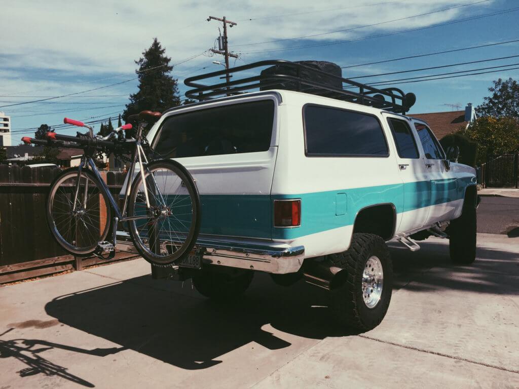 Hitch Mount Bike Rack On Chevy Suburban / Tahoe