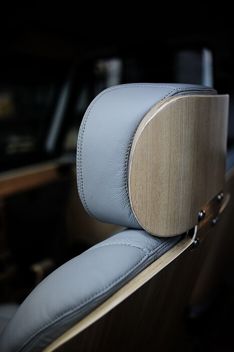 Custom Leather seats with Wooden backing
