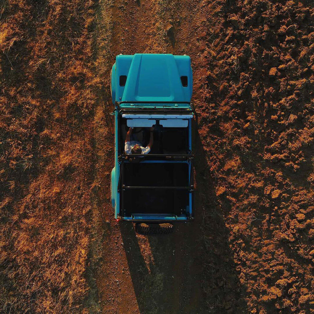 Land Rover Defender View from the top