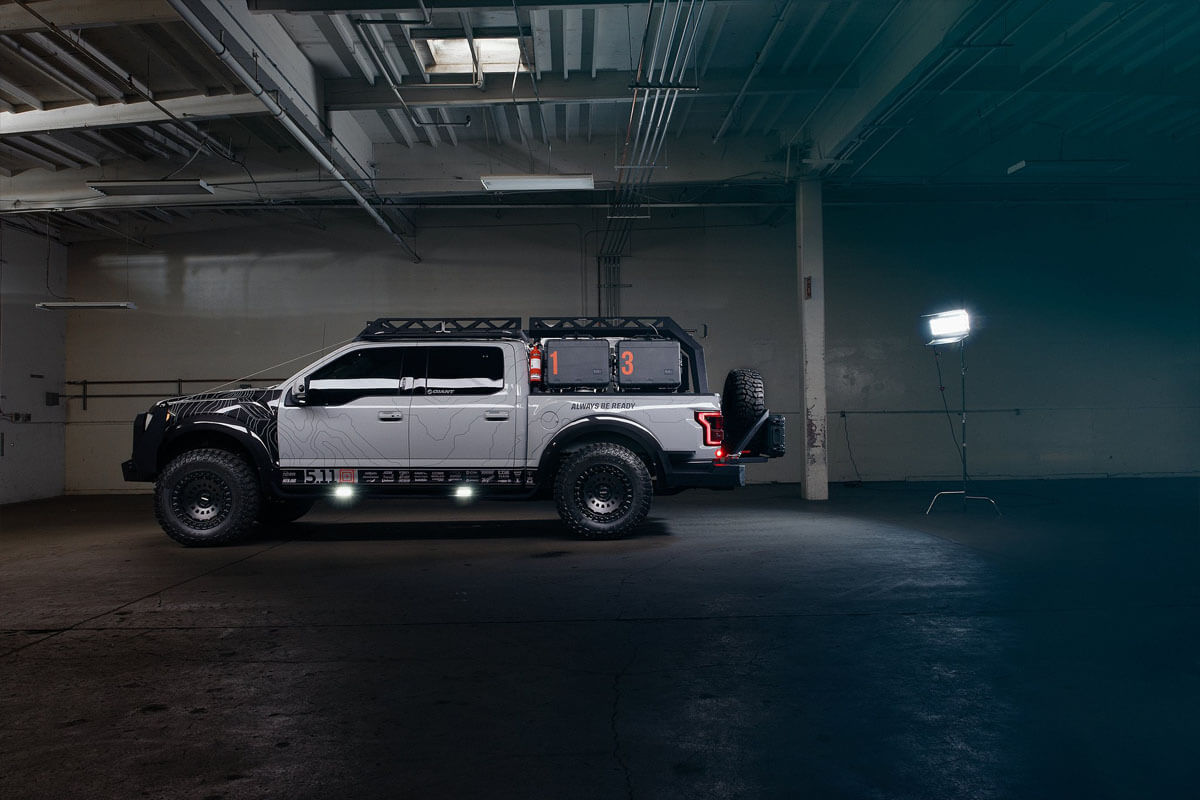 Ford F150 overland bed and roof rack