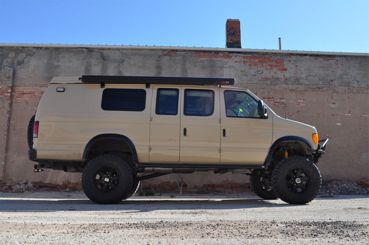Lifted Ford F350 Van