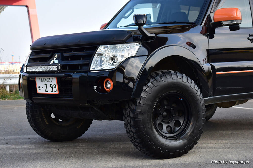 Mitsubihi montero suspension lift 255/85R16 offorad tires
