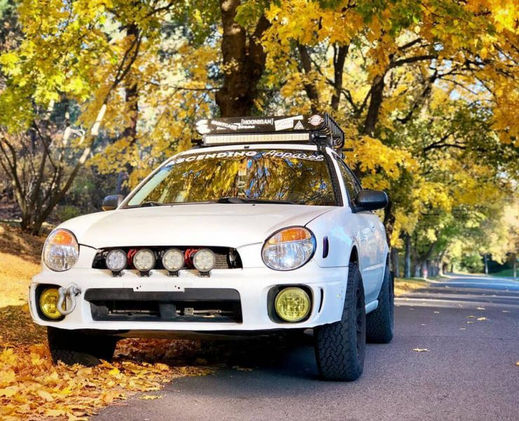 "3"" Lifted Impreza hatchback with lifted suspension"