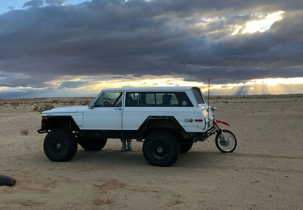 Lifted Jeep Cherokee Chief with custom fender flares
