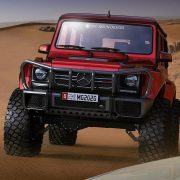 Lifted Mercedes G-Class offroad bumper with a bush guard