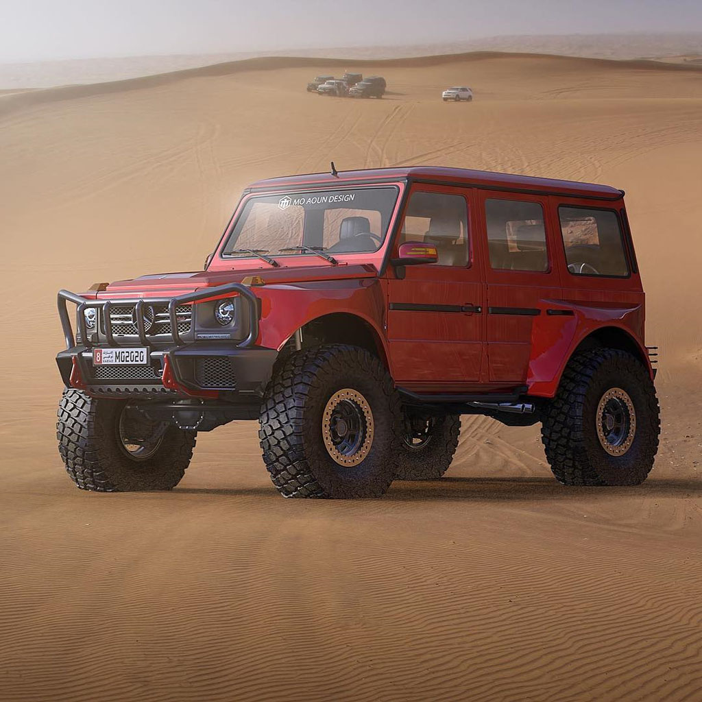 Lifted Mercedes G-Classe with 40 inch wheels