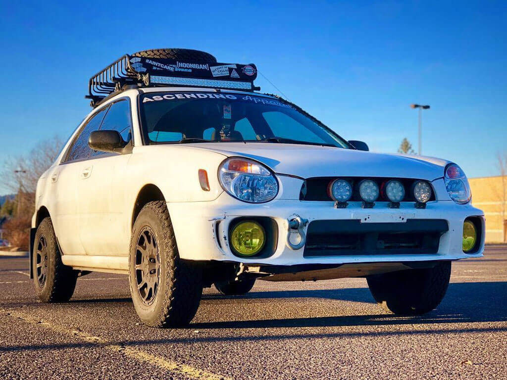 Lifted impreza with Forester springs